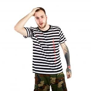 BEZ HRANIC STRIPE SHORT SLEEVE