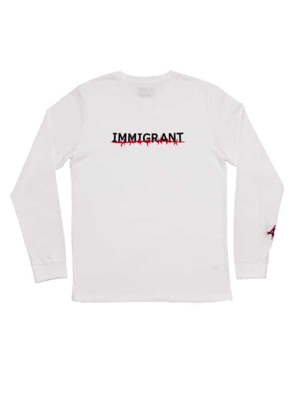 IMMIGRANT LONG SLEEVE TEE