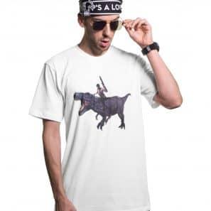 P'sA Love 2 T-REX Tee White